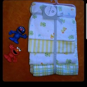 NWT Carter's Receiving Blankets 4 Pack Frog Duck